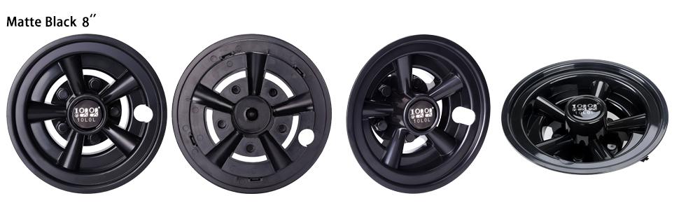 Golf Cart Wheel Covers Black