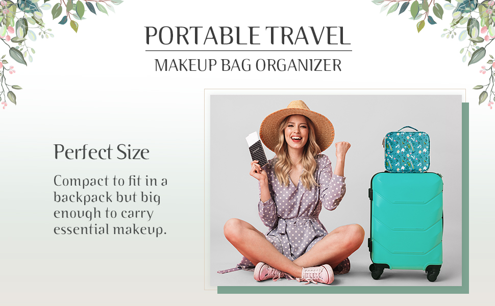 teal makeup bag for women