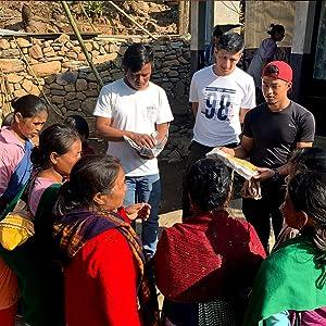 Muezart team meeting the people in the villages of Meghalaya
