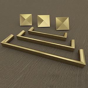 Satin Brass Hardware