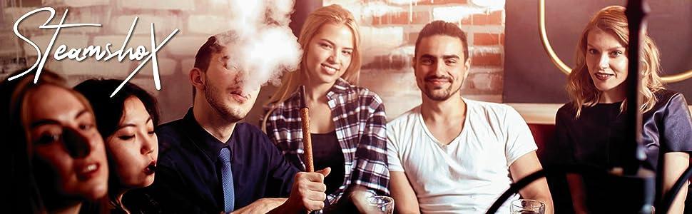 SteamshoX® Black Fruitmix - Piedras de vapor para cachimba shisha narguile - Sustituto del tabaco sin nicotina