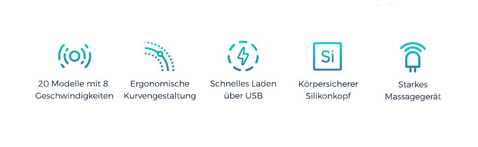 20 Modelle mit 8 geschwindigkeiten schnelles laden uber USB silikon wasserdichte ausfuhrung
