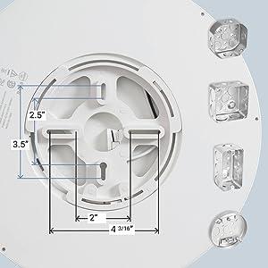 flush ceiling lights junction box compatibility