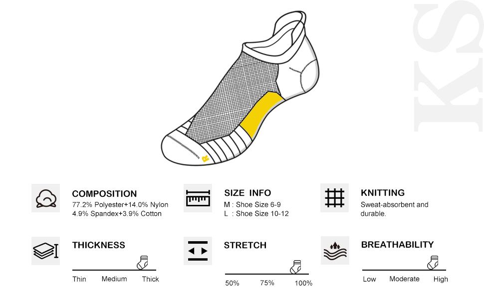 mens running sock