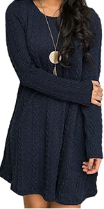 Knit Pullover Sweater Dress
