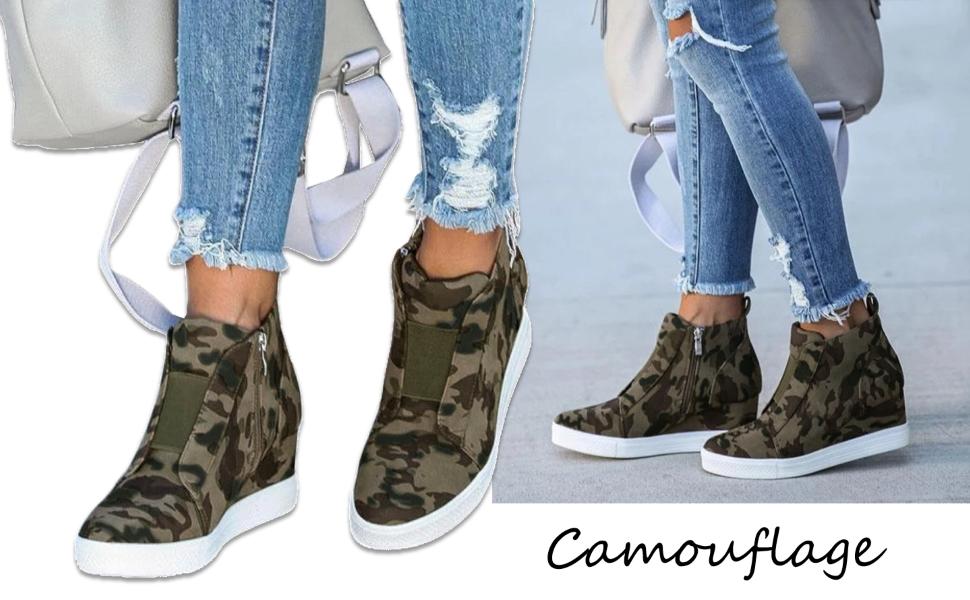 Womens Wedge Sneakers Platform High