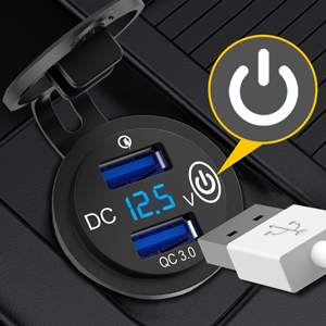 12v USB outlet touch on/off switch  prevent the battery being drained  extend the life of product