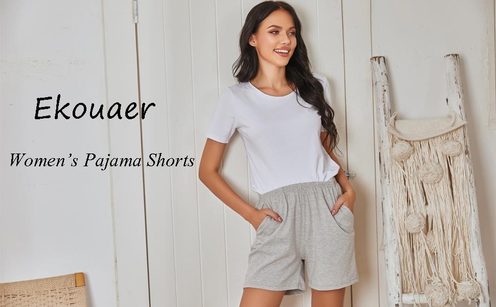 Ekouaer womens pajama shorts
