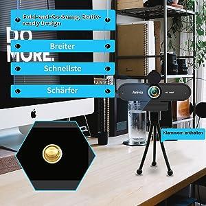 webcam with free tripod