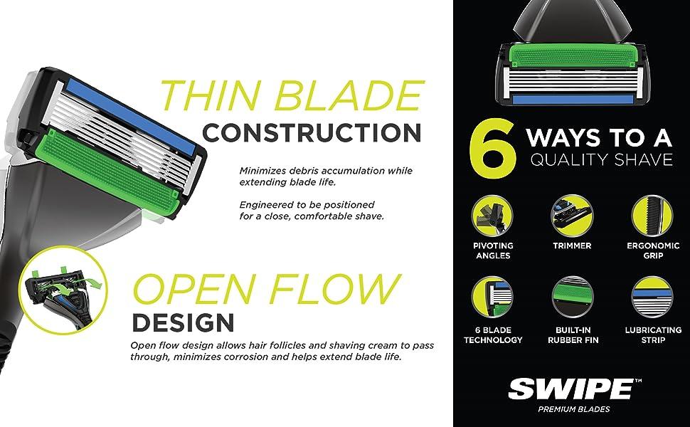 SWIPE Thin Blade Open Flow