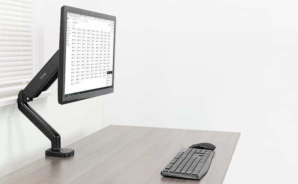 stand-v001t VIVO Seul Moniteur Bureau Support pour Fixation r/églable suppl/émentaire de Hauteur jusqu/à 27 /écran