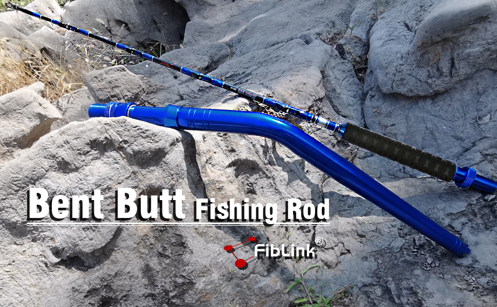 Bent/Straight Butt Trolling Rod Roller Rod Conventional Boat Fishing Pole with Roller Guides