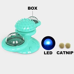 Add catnip and glowing lights