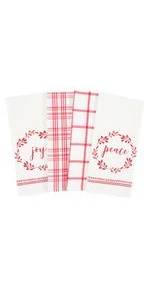 holiday winter merry christmas gift kitchen dish towel cotton