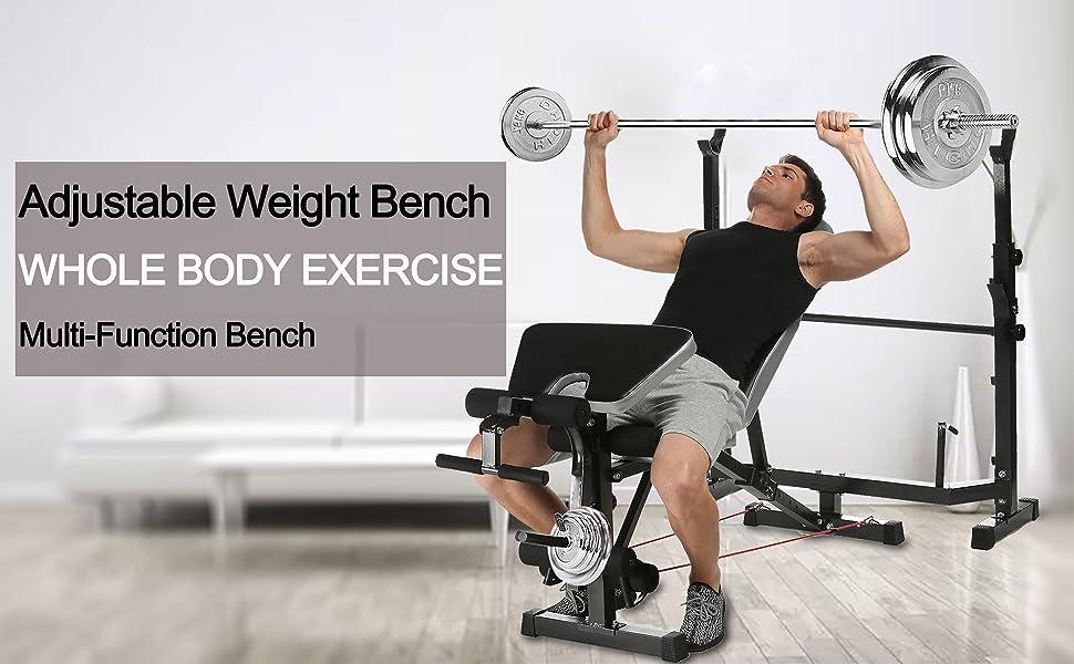 Details about  /Half Frame Squat Barbell Rack Pull Up Bar Dip Station Weightlifte Indoor Fitness