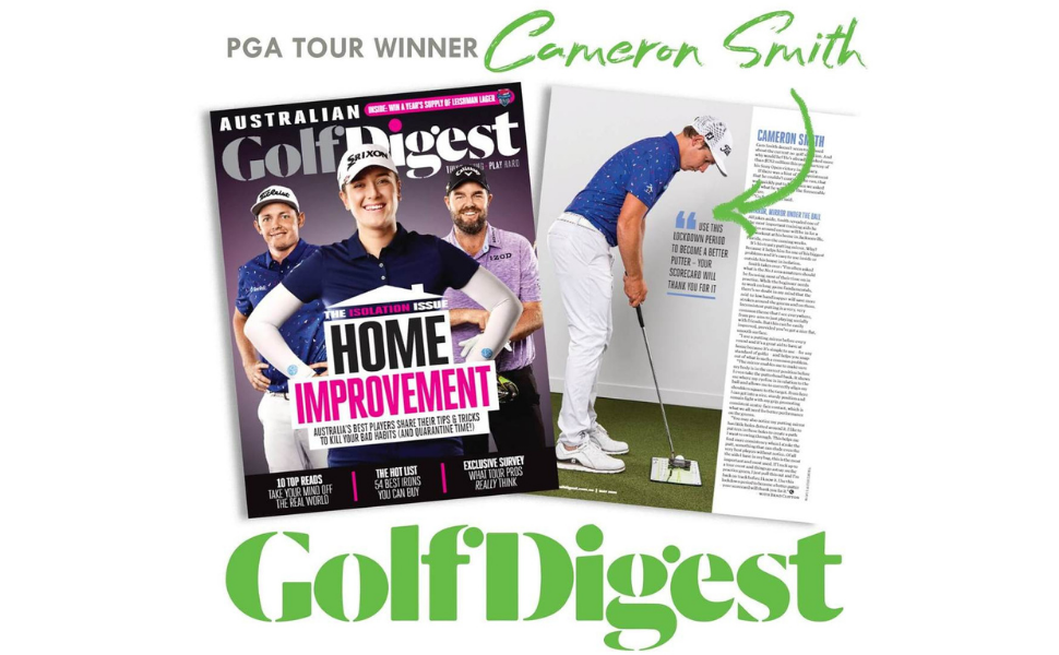 Australian Golf Digest Cameron Smith Golf Drills from Home Putting Training Aid Golf Swing Trainer