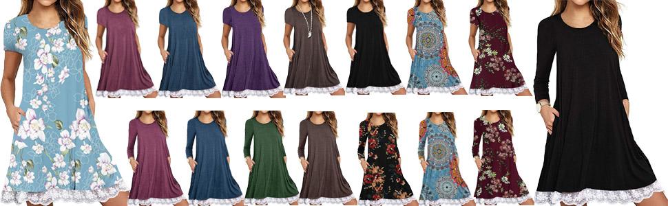 summer dresses for women casual beach summer dress for juniors t shirt dress with pockets for women
