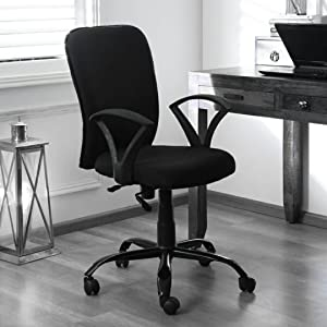 Zebra Black Medium Back chair for Home and Office Use To Work in Small Comfort and in Compact spaces