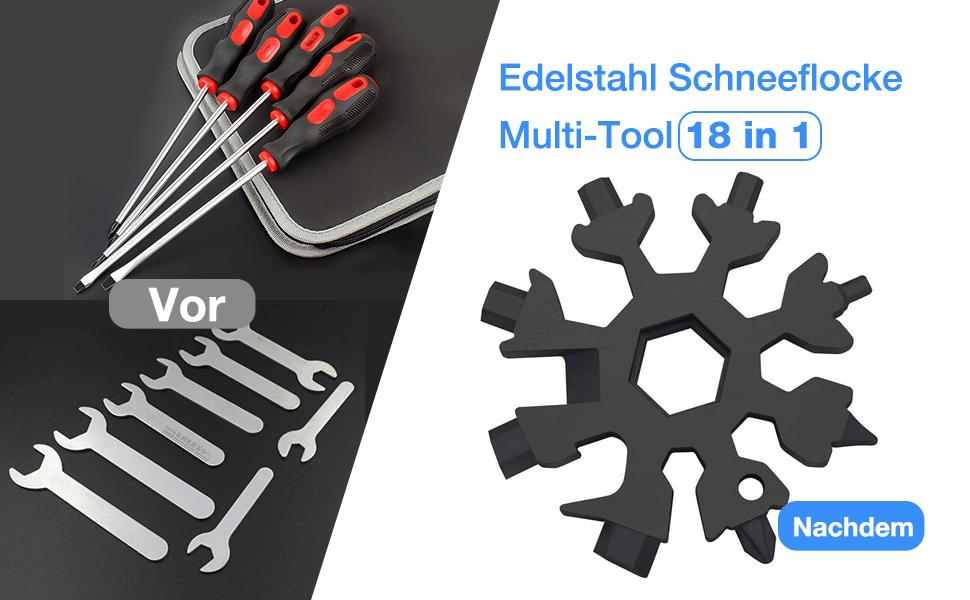 Edelstahl Schneeflocke Multi-Tool 18 in 1