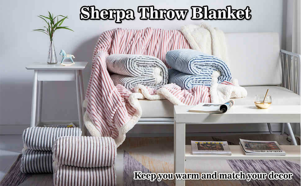 SHERPA BLANKET FOR COUCH