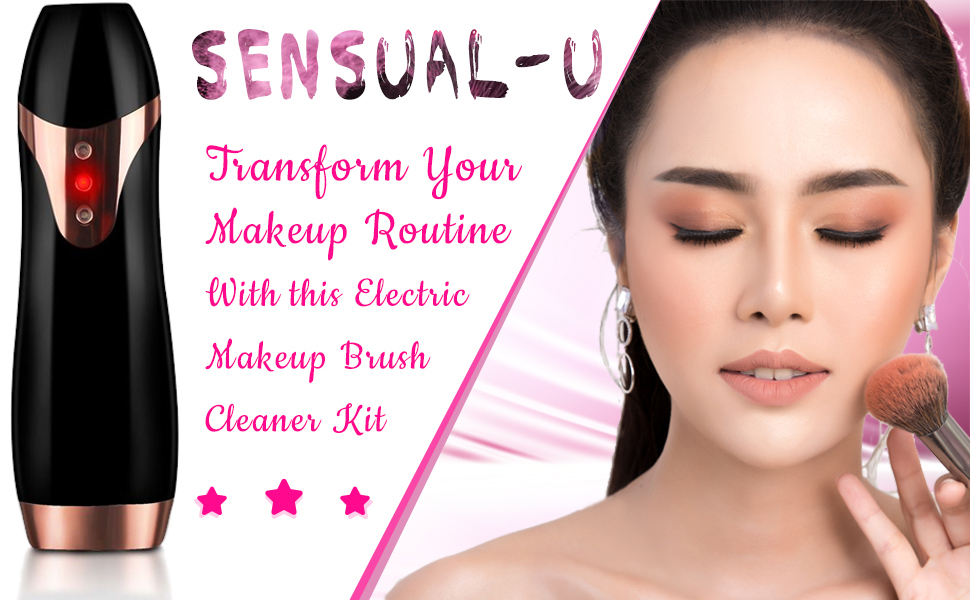 makeup brush cleaner kit reachargeable