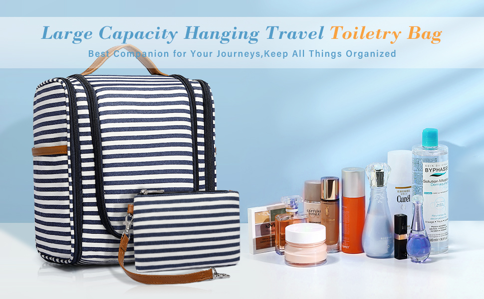 Large Capacity Hanging Travel Toiletry Bag for Women