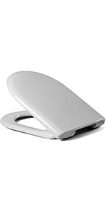 LUVETT WC Sitz D700 Absenkautomatik SoftClose Abnahme EasyClean D-Form Duroplast