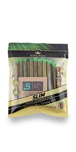 King Palm Wraps Slim Size, Palm Leaf Wrap, Prerolled Cone