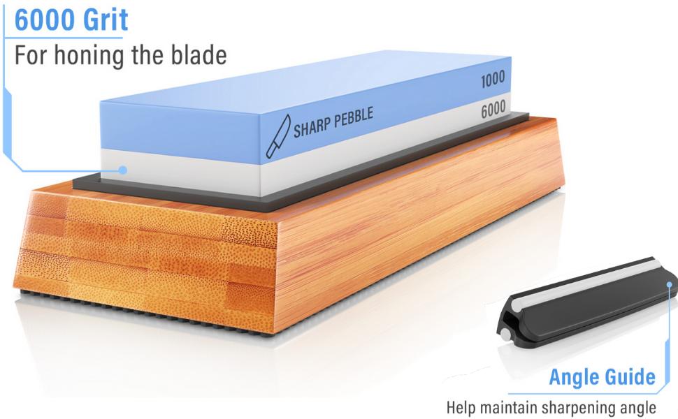 1000/6000 Grit knife sharpener whetstone knife sharpening stone wet stones leather strop