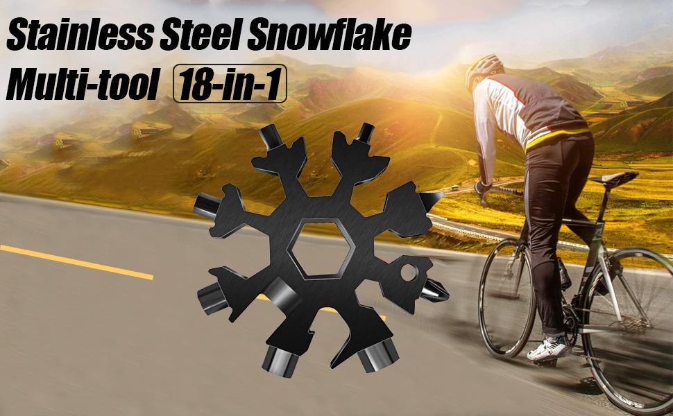 stainless steel snow-flake multi-tool 18-in-1