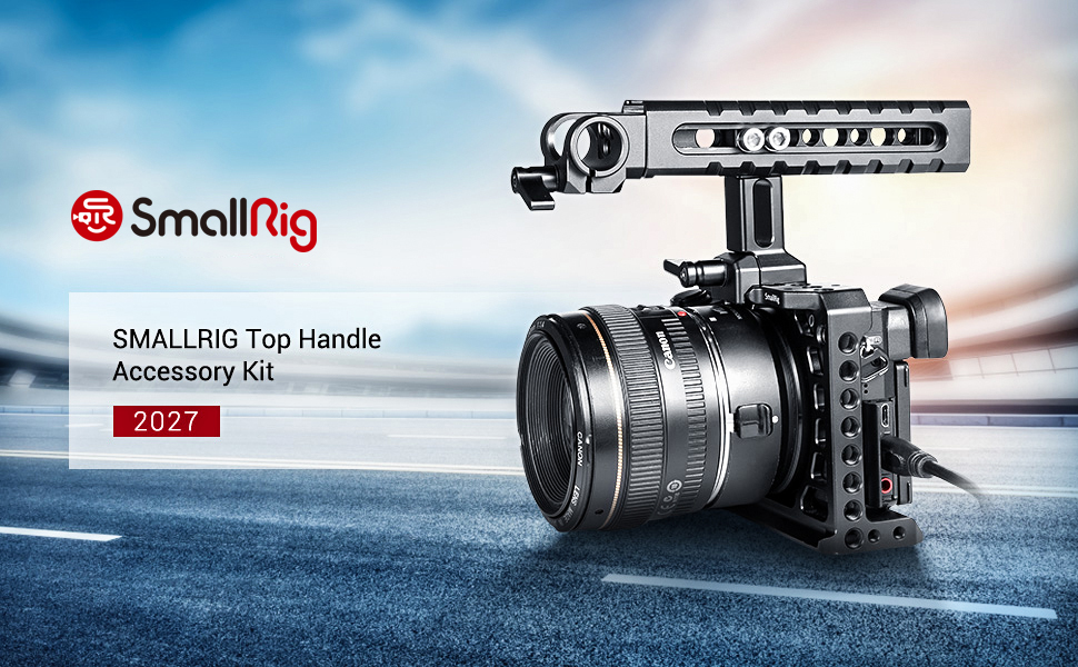 Anti-Off Designed Cold Shoe Mounts,15mm Rod Clamp for DSLR Camera HTN2439 SMALLRIG Top Handle Grip for NATO Rail Standard with Locating Hole Camera Cage