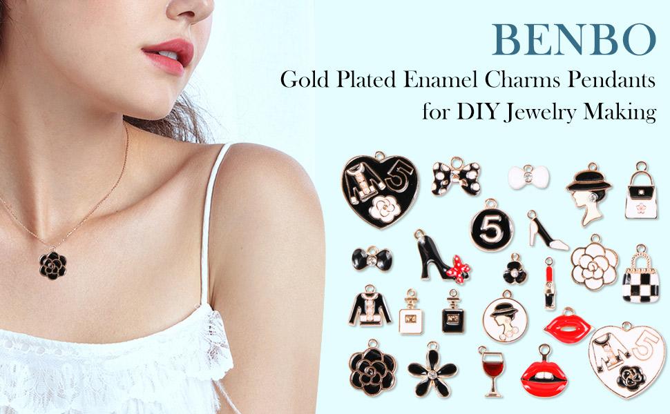 10Pcs Mixed Enamel Women Makeup Charms With Lipstick Pendant DIY Jewelry Making