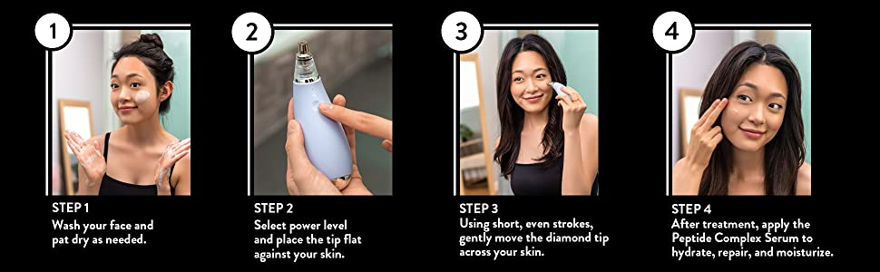 Steps to use the Micrderm GLO Mini