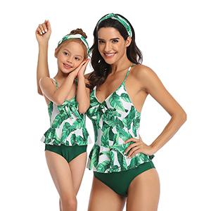 Summer Cute Baby Girls Bikini Set Family Matching Swimwear