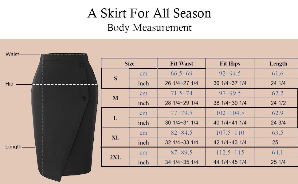 office skirt for women