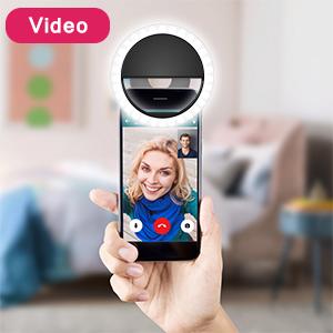 Selfie ring light for video