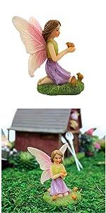 fairy garden miniature fairies girl sitting outdoor indoor tiny small animal bird