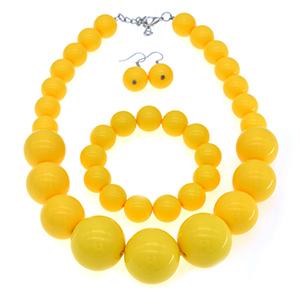 orange pearl necklce set