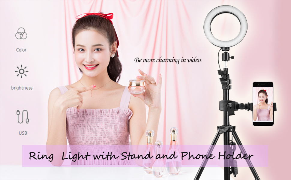 docooler 16cm ring light with stand (50/160/210cm)