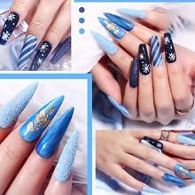 blue gel nail polish