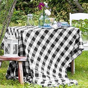 Buffalo Plaid Square Tablecloth