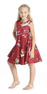 Hawaii Hangover Vintage Hawaiian Girls Flare Dress Matching Patterns Sets Christmas