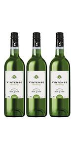 ヴィンテンス(VINTENSE) 【ノンアルコール ワイン】ヴィンテンス(Vintense)シャルドネ(白)750ml【3本】