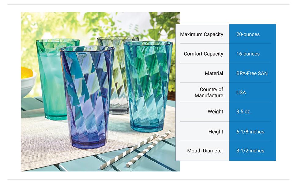 optix 20-ounce cups coastal colors