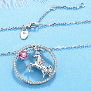 october Birthstone Necklace Wife