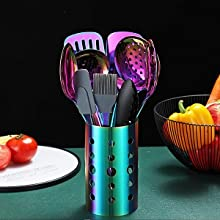 13-Piece Rainbow Kitchen Utensils Set