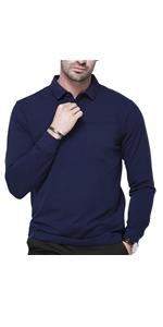 ens Long Sleeve Moisture Wicking Performance Polo Shirts