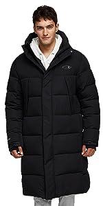 Active long coat for men puffer jacket