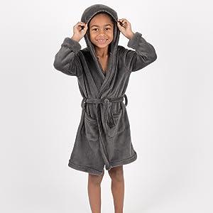 Leveret Boys Girls Navy Fleece Sleep Robe Size 2T-14Y