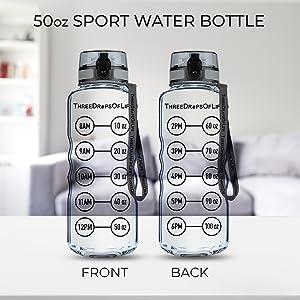 50oz Clear Water Bottle